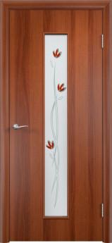 Дверь межкомнатная С-17 (Фьюзинг) Итальянский орех