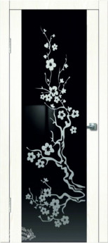 Дверь межкомнатная Диана Сакура Сандал белый