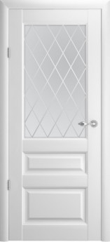 Дверь межкомнатная Эрмитаж 2 ДО Белый винил