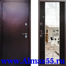Входная дверь Квадра Зеркало Венге