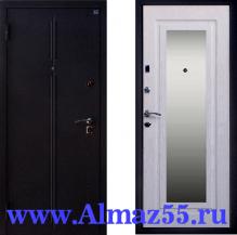 Входная дверь с зеркалом Алмаз Топаз-2