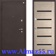 Входная дверь Алмаз-11 ЭКО Лиственница мокка