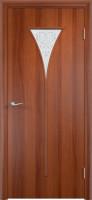 Дверь межкомнатная С-4 (Остеклённая) Итальянский орех