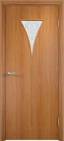 Дверь межкомнатная С-4 (Остеклённая) Миланский орех
