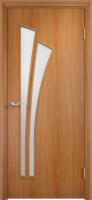 Дверь межкомнатная С-7 (Остеклённая) Миланский орех