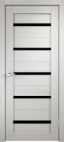 Дверь межкомнатная Стиль-1 Белёный дуб Чёрное стекло